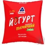 Йогурт Рудь Забава клубника 2,5% 500мл