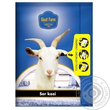 Сыр козий Goat Farm полутвердый сычужный нарезанный 50% 100г