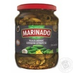 Vegetables cucumber Marinado canned 720g glass jar