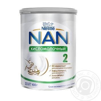 Смесь молочная Nestle Nan 2 Кисломолочный сухая для детей с 6 месяцев 400г - купить, цены на Novus - фото 1