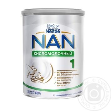 Смесь молочная Нестле Нан 1 Кисломолочный сухая для детей с рождения 400г