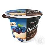 Десерт Даниссимо Черничный чизкейк двухслойный 6% 230г - купить, цены на Novus - фото 1