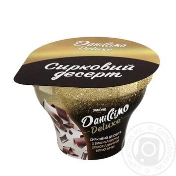 Десерт творожный Данисcимо Deluxe шоколадная крошка 3% 130г - купить, цены на Varus - фото 1