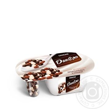 Йогурт Даниссимо Фантазия сливочный 8.3% 91г шарики в шоколаде 9г - купить, цены на Novus - фото 1