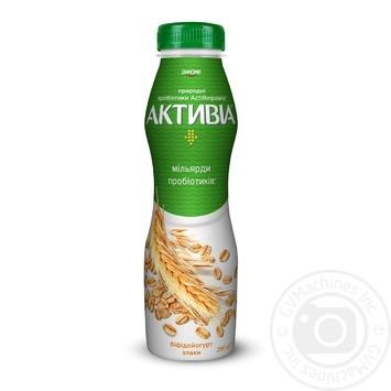 Біфідойогурт Активіа Злаки питний 1,5% 290г - купити, ціни на МегаМаркет - фото 1