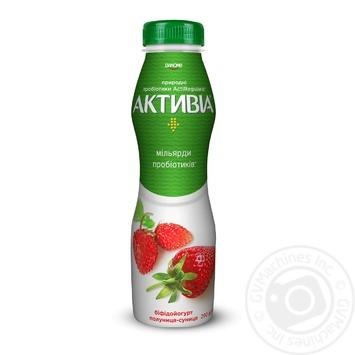 Danone Activia Strawberry-Wild Strawberry Drinking Bifidoyogurt - buy, prices for Novus - image 1