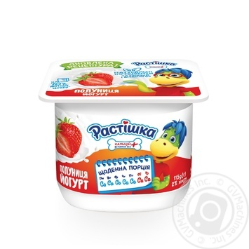 Rastishka Strawberries Yogurt 2% 115g