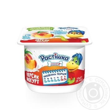 Йогурт Растишка Персик 2% 115г - купить, цены на Varus - фото 1