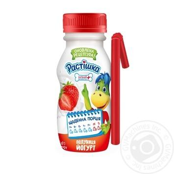 Йогурт Danone Растишка клубника 185г - купить, цены на Ашан - фото 1