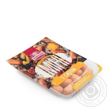 Сосиски Бащинский Мини с сыром 1/с 350г - купить, цены на Novus - фото 1