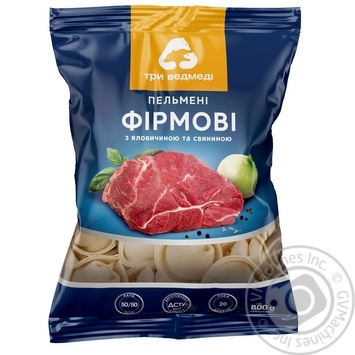 Three Bears Firmovi Dumplings with beef and pork 800g - buy, prices for MegaMarket - image 1