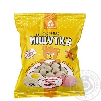 Three Bears Mishutka Dumplings with chilled turkey 600g - buy, prices for MegaMarket - image 1