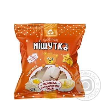 Try vedmedi Mishutka with potato frozen vareniki 400g - buy, prices for MegaMarket - image 1