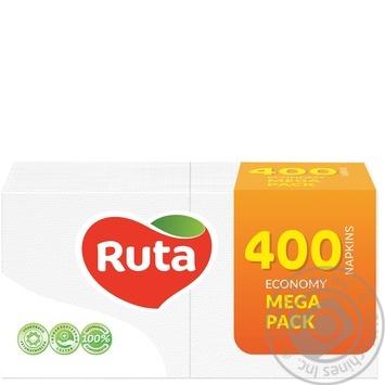 Серветки Ruta Mega Pack 400шт - купити, ціни на МегаМаркет - фото 1