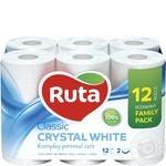 Toilet paper Ruta Classic white 2-ply 12pcs - buy, prices for Novus - image 1