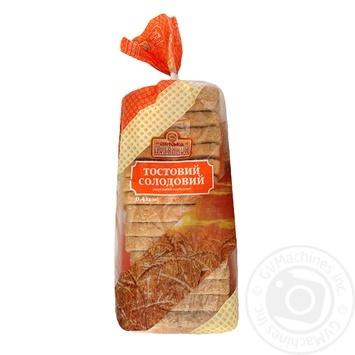 Хліб Сумська Паляниця тостовий солодовий 400г - купити, ціни на Ашан - фото 1