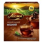 Чай чорний Лісма Індійський Міцний в пакетиках 100шт*1,8г
