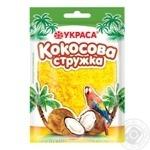 Кокосовая стружка Украса желтая 25г