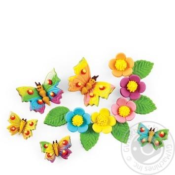 Набір прикрас Украса метелики та квіти - купити, ціни на Ашан - фото 1