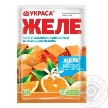 Желе Украса вкус апельсина 90г