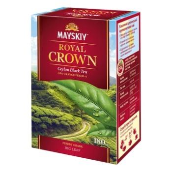 Чай чорний Майский Царська Корона 180г - купити, ціни на Ашан - фото 7