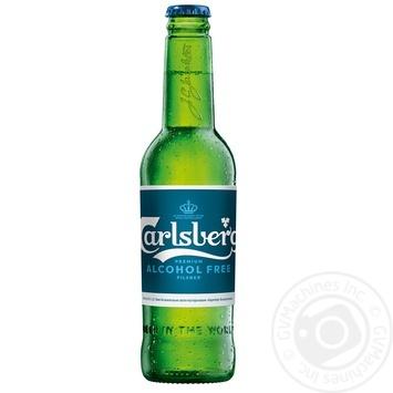 Пиво Carlsberg светлое безалкогольное 0% 0,45л - купить, цены на МегаМаркет - фото 1