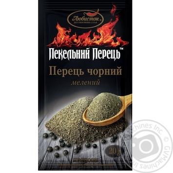 Spices black pepper Lyubystok ground 20g - buy, prices for Furshet - image 1