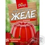 Jelly Deko strawberries with cream jelly for desserts 90g Ukraine