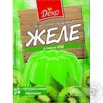 Jelly Deko kiwifruit jelly for desserts 90g Ukraine