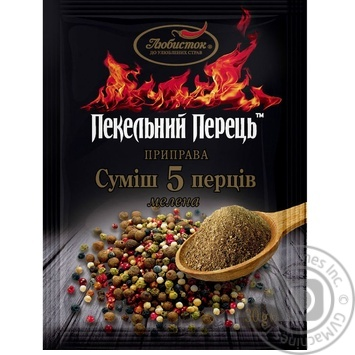 Перец Любисток Адский перец смесь 5 перцев 30г - купить, цены на Фуршет - фото 1