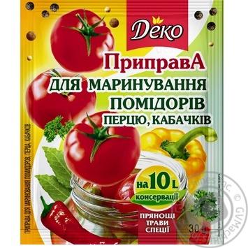 Приправа Деко для маринования помидоров перца кабачков 30г