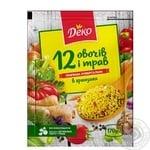 Приправа Деко универсальная 12 овощей и трав в гранулах 170г