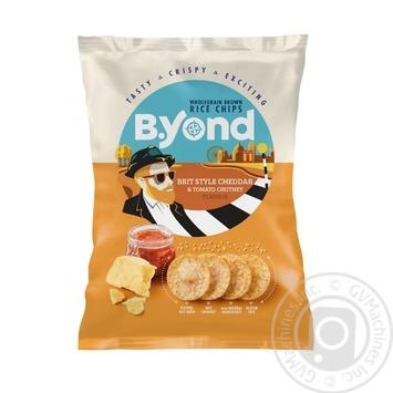 Чипсы B.Yond рисовые со вкусом сыра Чеддер и томатов 70г