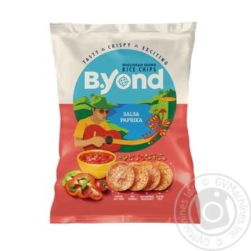 Чіпси B.Yond рисові зі смаком Сальса паприка 70г - купити, ціни на Метро - фото 1