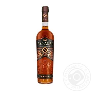 Коньяк Aznauri 5* 40% 0,5л - купити, ціни на Novus - фото 1