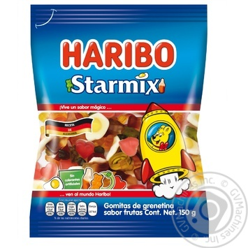 Конфеты жевательные Haribo Starmix 80г - купить, цены на Ашан - фото 1