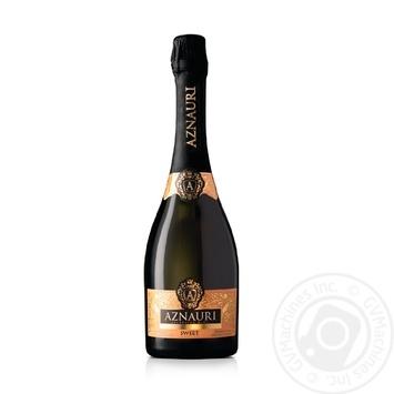 Вино ігристе Aznauri біле солодке 10-13% 0,75л - купити, ціни на Novus - фото 1