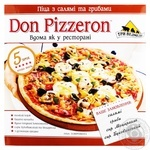Try Vedmedi Don pizzeron frozen with salami and mushrooms pizza 350g