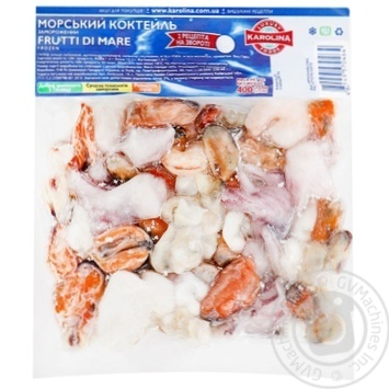 Морепродукти Karolina Морський коктейль заморожений 400г
