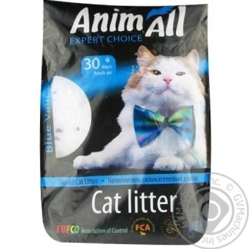 Наполнитель Animall для кошачьего туалета силикагель 3,8л - купить, цены на Метро - фото 1