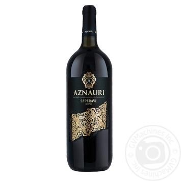 Вино Aznauri Сапераві червоне сухе 11% 1,5л
