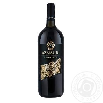 Вино Aznauri Алазанская долина красное полусладкое 9-13% 1,5л
