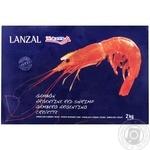 Креветки Lanzal Аргентинские красные сырые с головой в панцире быстрозамороженные L2 2кг - купить, цены на Метро - фото 1