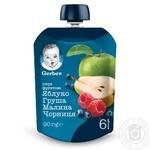 Пюре Gerber яблоко груша малина черника 90г - купить, цены на Фуршет - фото 1