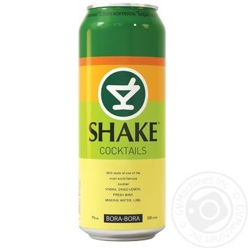 Low-alcohol drink Shake Bora Bora 7%alc. 500ml - buy, prices for Novus - image 1
