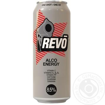 Напиток слабоалкогольный энергетический Рево 8.5%об. 500мл - купить, цены на Фуршет - фото 1