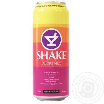Напій Шейк Секс на пляжі слабоалкогольний газований 7% об. 500мл - купити, ціни на Novus - фото 1