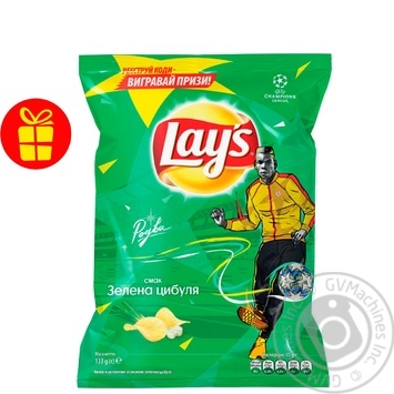 Lay's potato chips with green onion flavor 133g - buy, prices for Novus - image 1