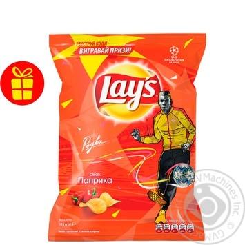 Чипси Lay's зі смаком паприки 133г - купити, ціни на Novus - фото 1