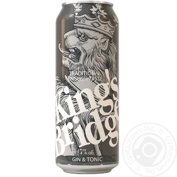 Напій слабоалкогольний King's Bridge Джин з тоніком жерстяна банка 7% 0,45л - купити, ціни на Novus - фото 1